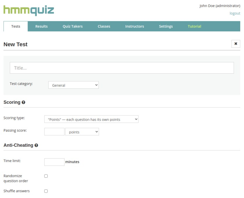 How to make your own test online in HmmQuiz