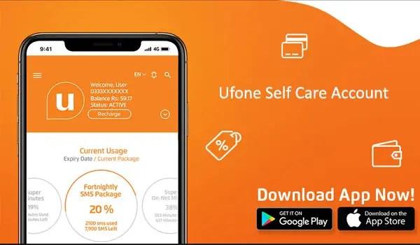 Ufone Self Care Account - Ufone ECare Account