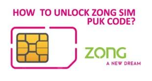 Zong SIM PUK Code Unlock