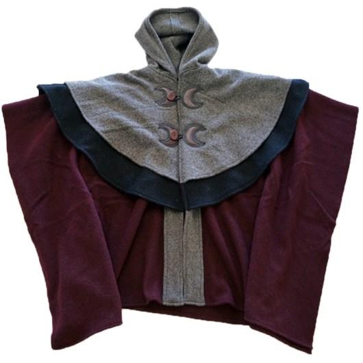 double yoke open front cape