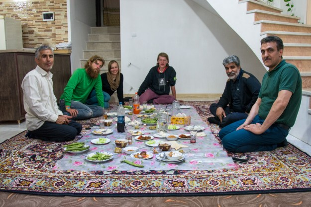 Mr.Nader and his not-mafioso-looking friends host our last dinner in Iran.