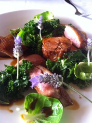 Duck and lavender