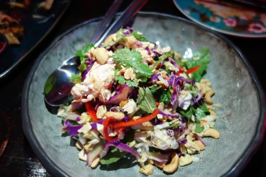 Chicken salad was light and refreshing