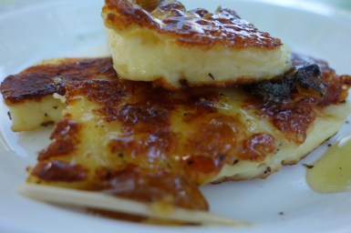 Haloumi with fig jam.