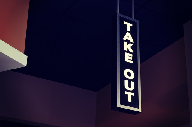"""""""take out""""でも通じる"""