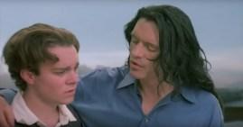 The mary-sue Johnny comforts his ward Denny.