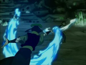 Katara battles Princess Azula