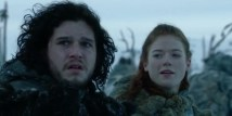 Jon Snow with Ygritte in Game of Thrones