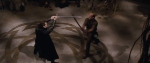 Jason Statham and Ray Liotta duel to the death with swords.