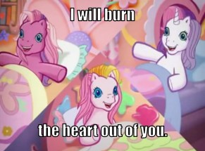 The ponies of G3 of My Little Pony stare at me like Moriarty