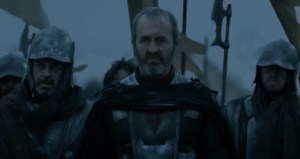 Stannis Baratheon marches with his army.