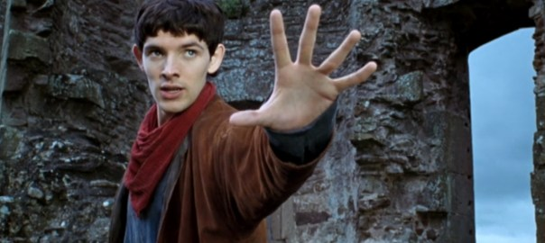 Merlin prepares to cast a spell.