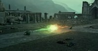 The final duel between Harry Potter and Lord Voldemort