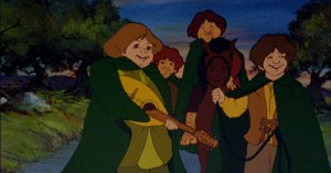 The Four Hobbits in Ralph Bakshi's version.