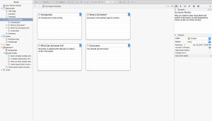 Scrivener's Corkboard feature.