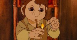 Frodo of the Nine Fingers in the Rankin/Bass cartoon.