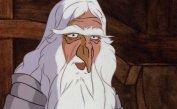 Cartoon Gandalf breaks the fourth wall.