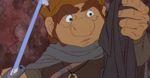 Sam stumbles upon the One Ring in the 1980 cartoon.