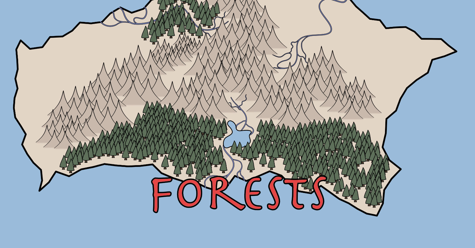 Making a Fantasy Map: Forests – H  M  Turnbull