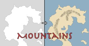 Making a fantasy map mountain ranges h m turnbull add mountains to a vector fantasy map gumiabroncs Images