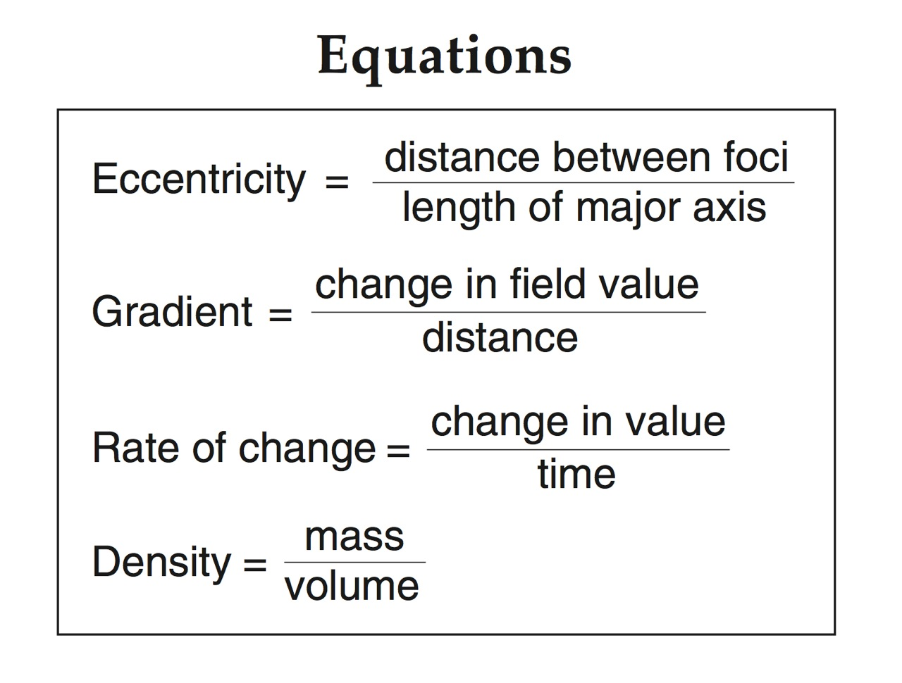Eccentricity Worksheet Earth Science