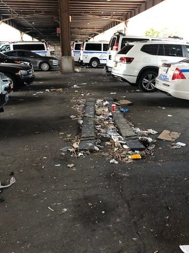 Police garage on 118 Street and Park Avenue - before clean up