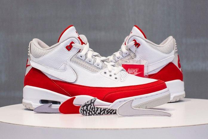 """239438898dc7 Air Jordan 3 Tinker """"University Red"""" thực chất là một phiên bản lấy ý tưởng  từ phối màu kinh điển của Air Max 1"""