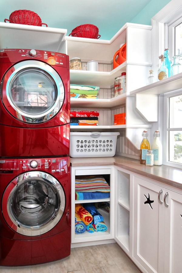 10 clever small laundry room storage and organization ... on Small Laundry Room Organization Ideas  id=49377