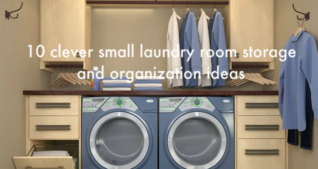 10 clever small laundry room storage and organization ... on Small Laundry Room Organization Ideas  id=66272