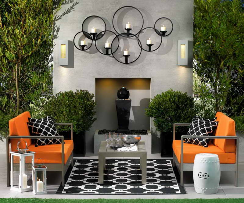 15 Fabulous Small Patio Ideas To Make Most Of Small Space ... on Black And White Backyard Decor  id=23976
