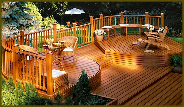 22 Deck Design Ideas To Create a Fabulous Outdoor Living ... on Backyard Wood Patio Ideas id=25623