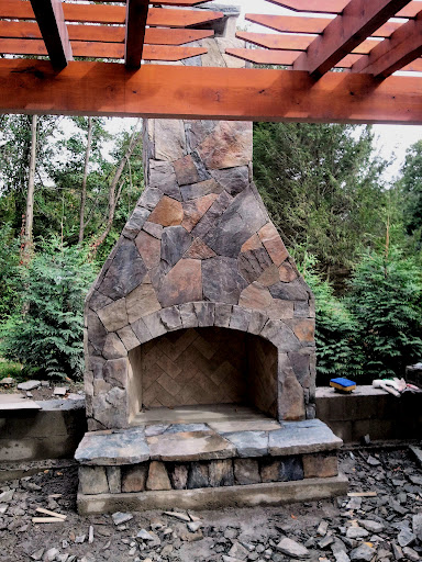 12 Outdoor Fireplace Plans-Add Warmth and Ambience to ... on Simple Outdoor Brick Fireplace id=92637