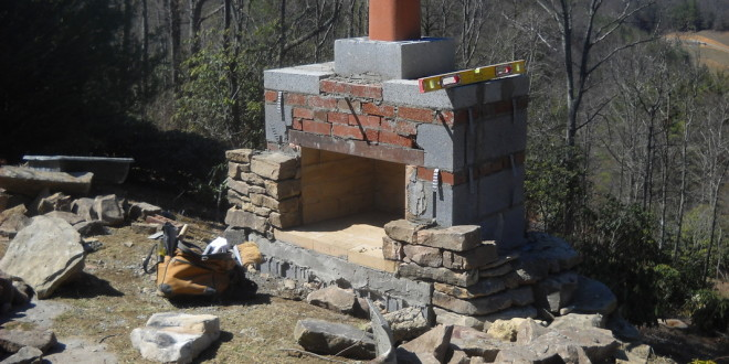 12 Outdoor Fireplace Plans To Enjoy The Backyard At Night ... on Diy Outdoor Fire  id=49597