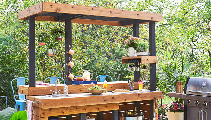 17 Outdoor Kitchen Plans-Turn Your Backyard Into ... on Patio Kitchen Diy  id=37490