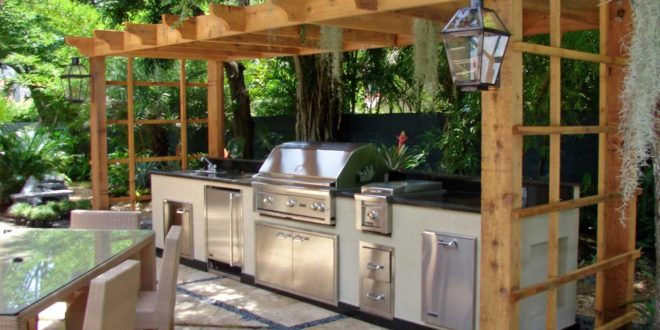 10 Outdoor Kitchen Plans-Turn Your Backyard Into ... on Patio Kitchen Diy  id=80668