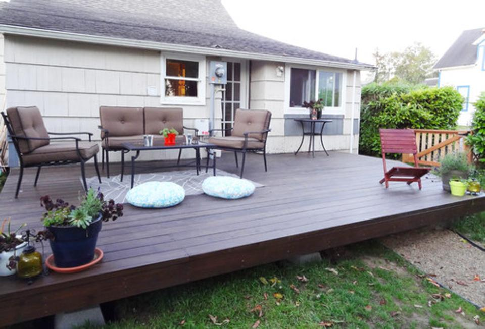 15 DIY Decks You Can Build Yourself For Outdoor Retreat ... on Simple Back Deck Ideas id=67792