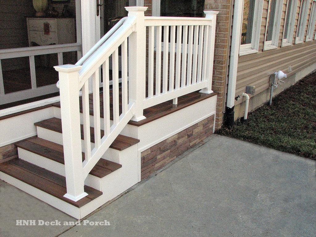 Deck Steps Gallery - HNH Deck and Porch, LLC 443-324-5217 on Backyard Patio Steps id=40432