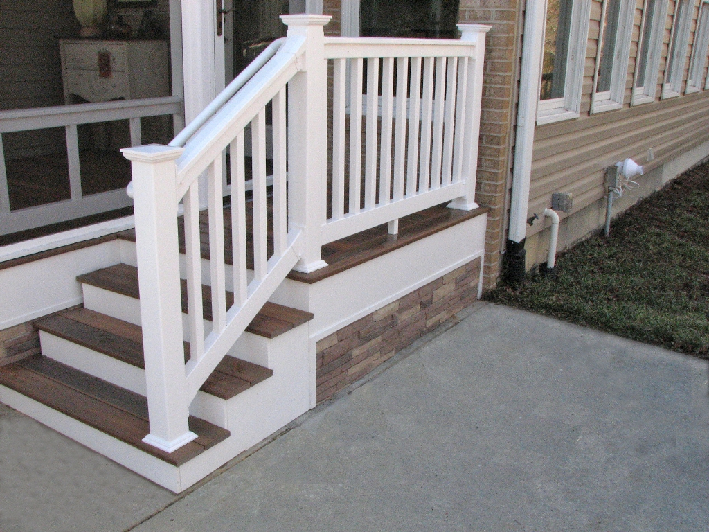 Deck Steps Gallery - HNH Deck and Porch, LLC 443-324-5217 on Backyard Patio Steps  id=32043