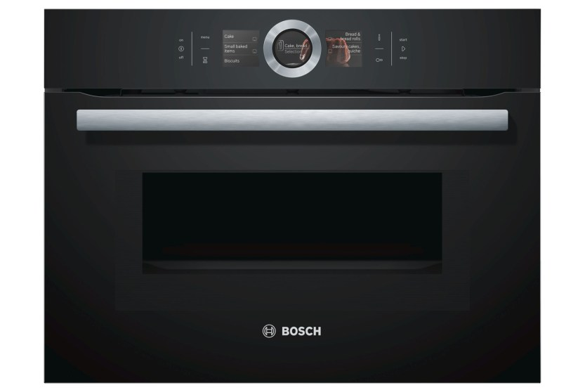 bosch series 8 45l 900w built in combination microwave cmg656bb6b black