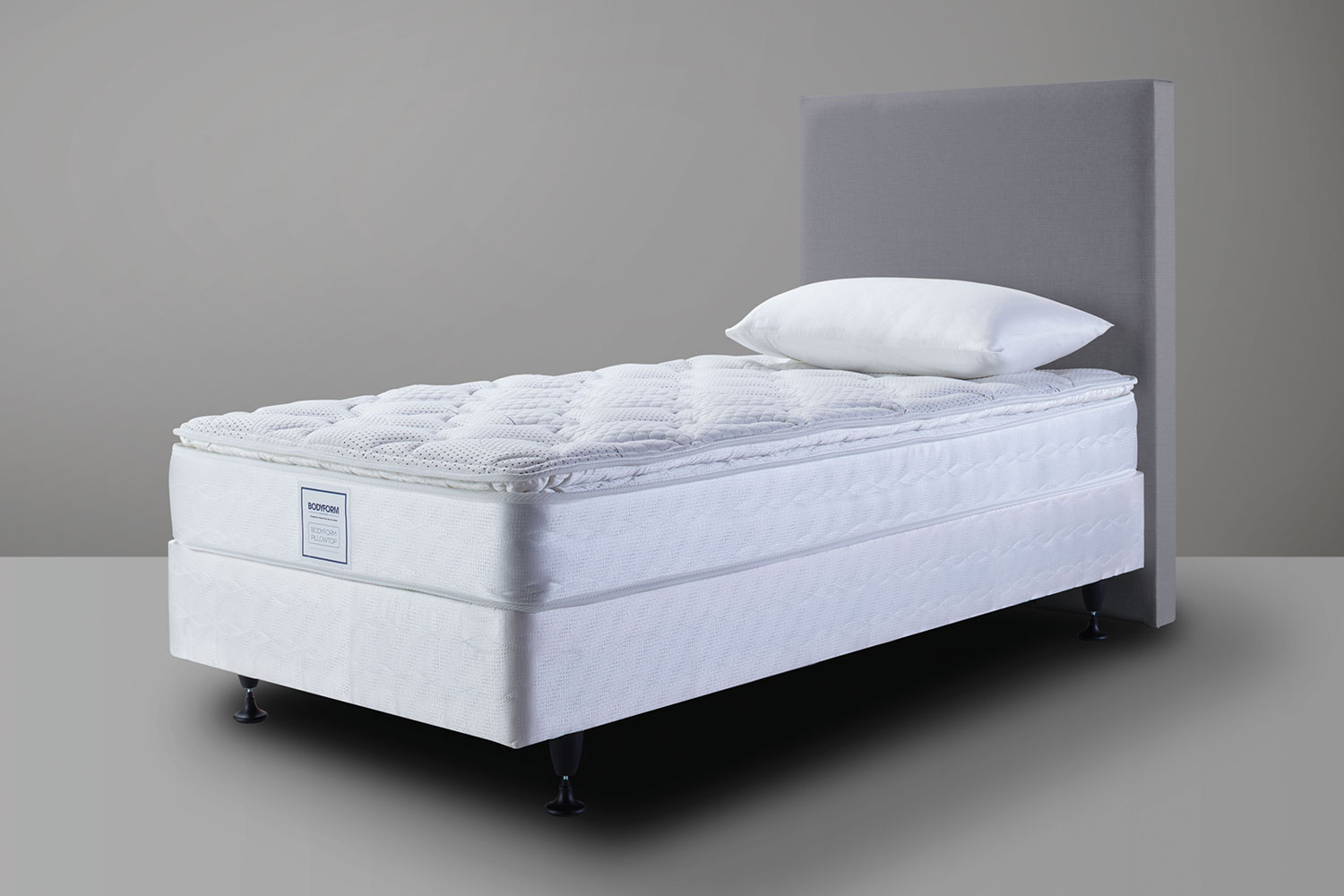 bodyform pillowtop king single bed by sealy