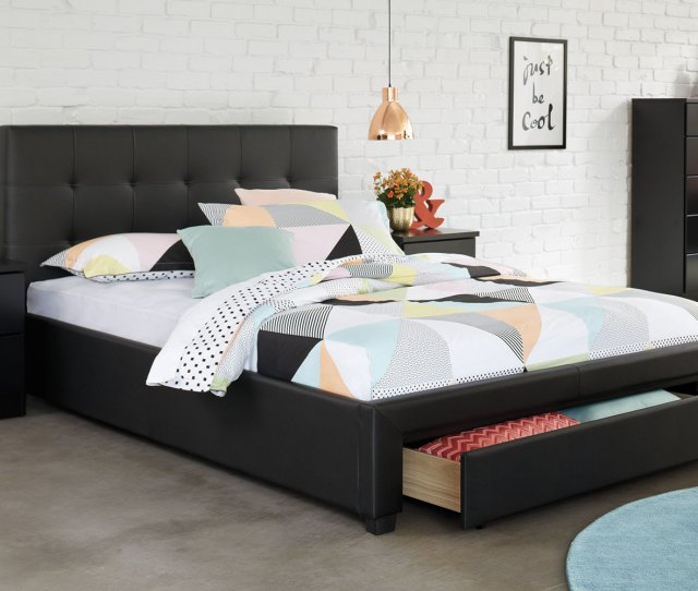 Stockholm King Storage Bed Frame By Nero Furniture Harvey Norman New Zealand