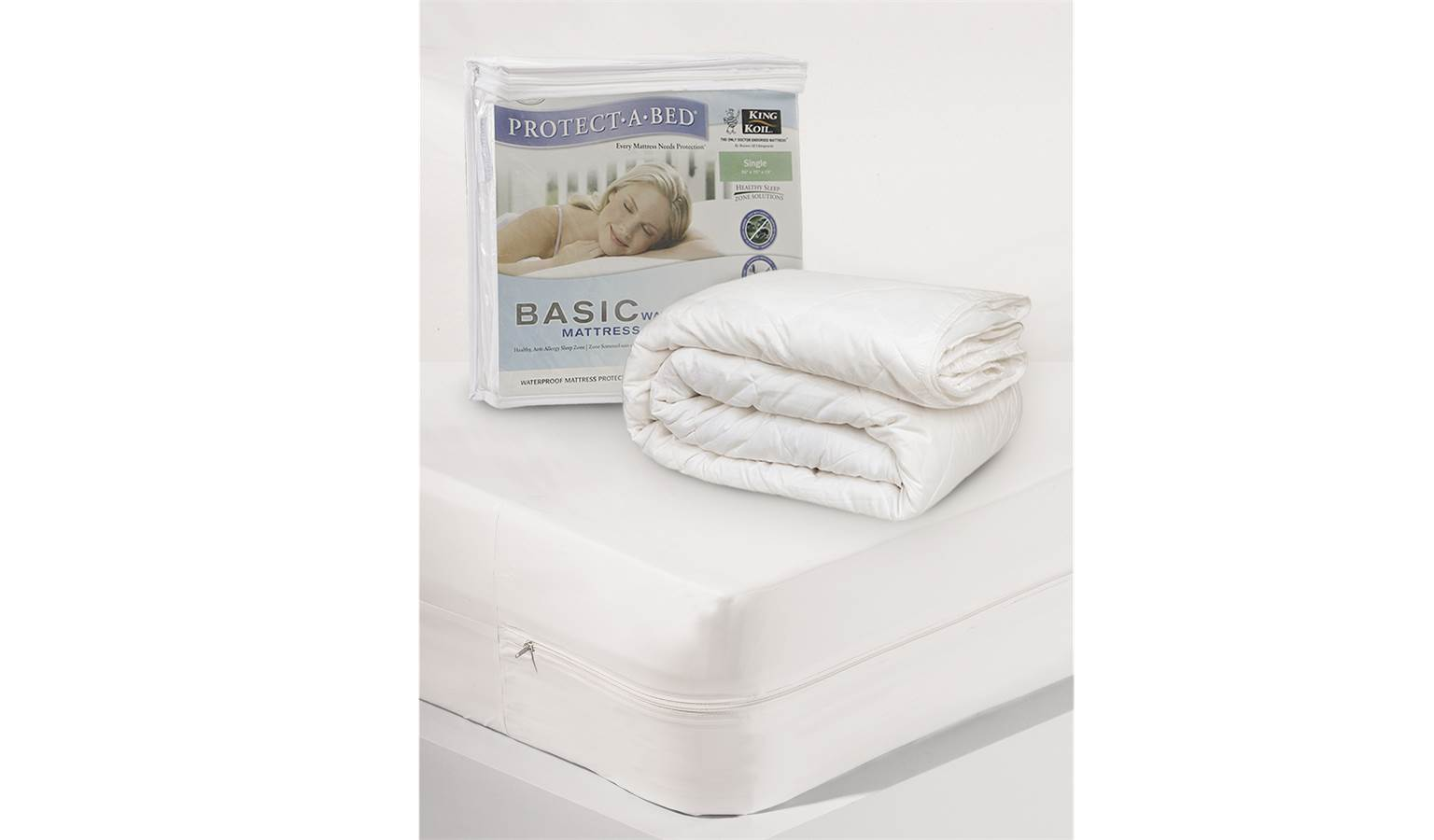 king koil protect a bed basic mattress protector queen size