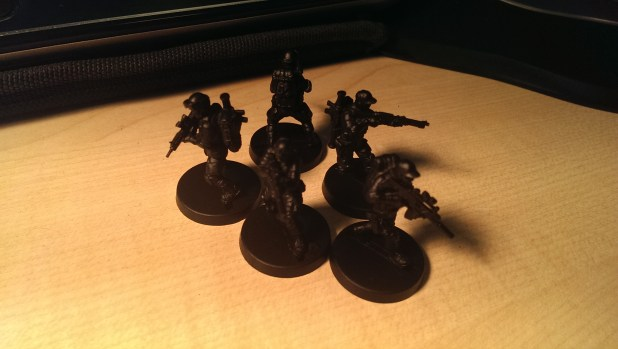 All the characters undercoated and ready to go.
