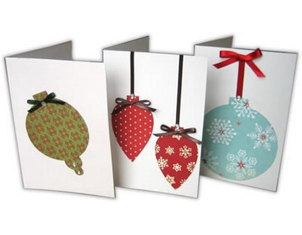 Как сделать открытку новогодний шар