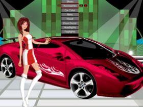 เกมส์แต่งตัว Car Show Girl