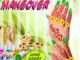 เกมส์แต่งเล็บสาวอินเดีย Katie s Nail Makeover Game