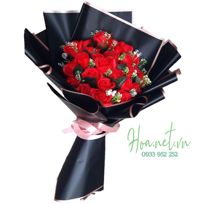 bó hoa sáp thơm 30 hoa