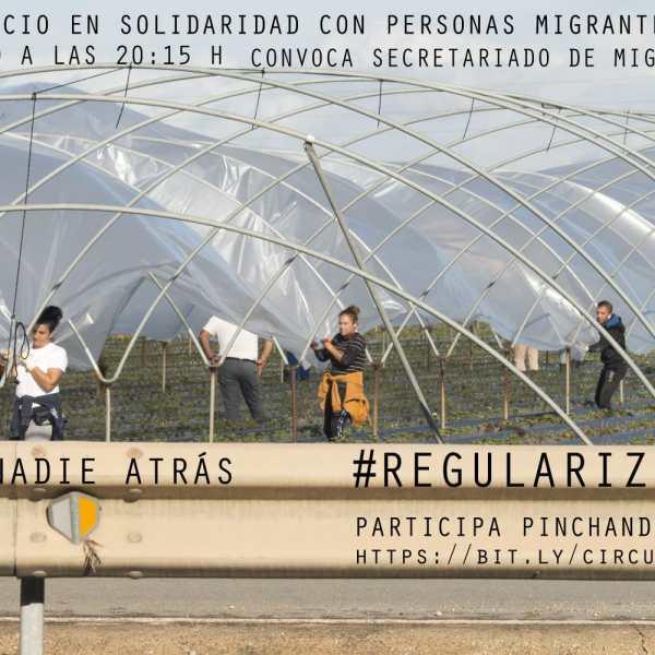 círculo del silencio virtual martes 19 de mayo. «Regularización Extraordinaria Migrantes COVID19»