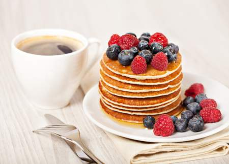 Breakfast - Pancakes & Coffee