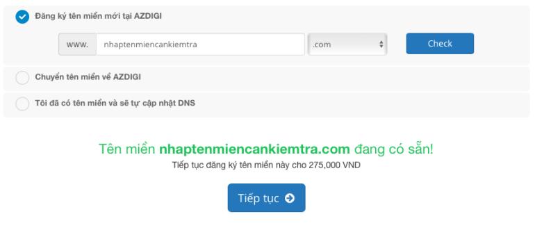 Tên miền có thể đăng ký - AZDIGI